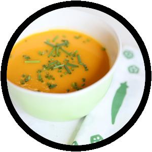 soupe de carottes au miso et au gingembre