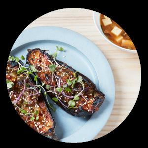 aubergine au miso