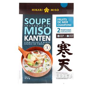 soupe miso kanten aux fruits de mer hikari miso-champong