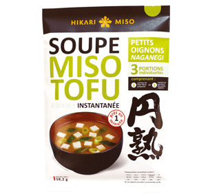 soupe miso tofu aux petits oignons hikari miso-naganegi