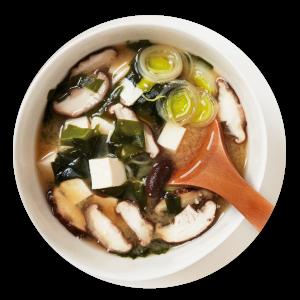 soupe au miso, tofu, champignons de paris, pâte miso hikari miso